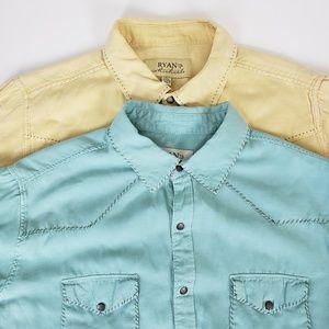 (2) Ryan Michael Western Button Up Shirts XL